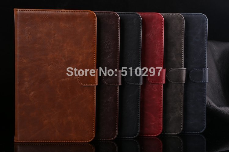 DS Crazy Horse pattern PU Leather Stand Cover Case For Samsung Galaxy Tab4 Tab 4 8.0 T330 T331 t335<br><br>Aliexpress