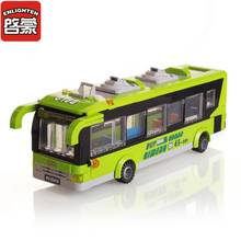 ENLIGHTEN 1121 City Bus Blocks Toys for Children Assembled Model Building Kits Block Toys Small Particles Brick Educational Toys