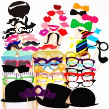 wedding decoration 60Pcs/Lot DIY Props 2017 Photo Booth Props wedding party decoration photobooth props wedding party decoration