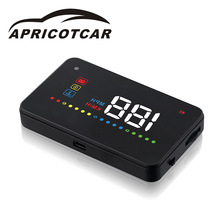 "3.5 ""  car hud head display wholesale  car head-up display plug and play easy to install Over Speed Warning System"