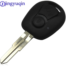 jingyuqin 10pieces/lot Remote Key Case Styling Blank For Ssangyong Actyon Kyron Rexton Shell Cover Fob 2 Buttons Uncut(China)