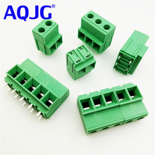 KF135T 10.16 2P PCB Screw Terminal Block Straight 10.16mm Pitch 750V 57A 24-6AWG 2P 3Pin high current high power terminal block(China)