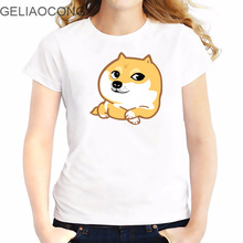 GELIAOCONG  Ladies T-shirt  2017 Model  Plus size and slim fit  The look of a single dog Net red expression Stretchy graphic