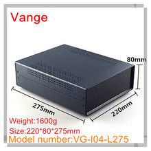 1pcs/lot top quality baking varnish surface iron enclosure box with ABS plastic panels for control device 220*80*275mm(China)