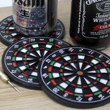 Mini Kitchen Utensils Dart board Styled Cup mouse pad Coaster Dart Board Drink Bottle Beer Beverage Cup Mats