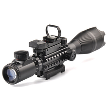 Tactical 4-16X50EG Rifle Scope Holographic Dual Illuminated Dot Sight with Red/Green Laser Combo for Rifle Airsoft Gun Sight