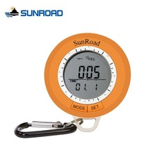 SUNROAD Mini Altimeter IPX4 Waterproof Weather Forecast Backlight Outdoor Hiking Fishing Thermometers Pedometer Compass 108S(China)