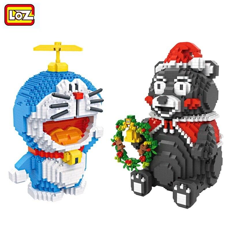 LOZ Diamond Blocks Kumamon Anime Blocks DIY Assembly Model Brinquedos Saving Box Juguetes for Kids Toys Boy Gifts 9046- 9031<br>