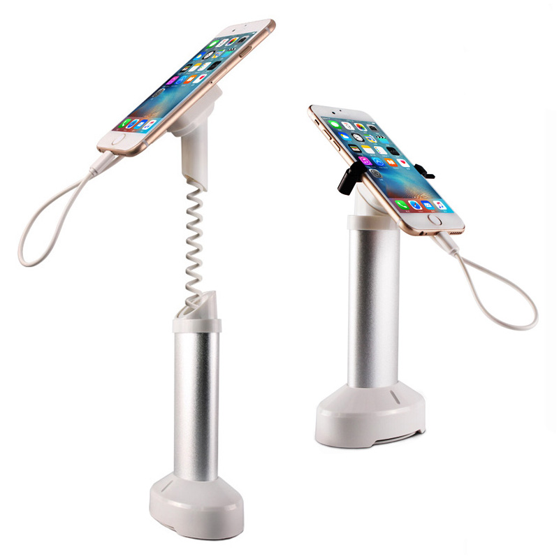 10xMobile phone security stand cell phone display holder iphone burglar alarm system anti theft for retail shop with clamp<br>