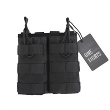 OneTigris Tactical MOLLE Double Open Top Mag Pouch M4/M16 Magazine Pouch Airsoft Military Paintball Gear(China)