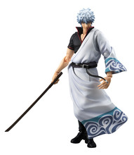 NEW hot 18cm GINTAMA Sakata Gintoki movable action figure toys collection Christmas gift doll with box(China)