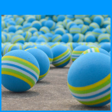 10pcs PGM Golf FOAM Sponge Balls Indoor Practice Training Aid Red Blue Rainbow Stripe Golf Swing Balls Light-weight
