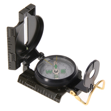 Hot Sale 3 in 1 Hunting Army Camping Survival Lens Lensatic Compass Outdoor New(China)
