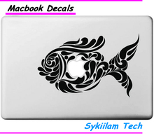 Strange Fish for apple Creative Black Sticker Case for Macbook Air 11 12 13 Pro 13 15 17 Retina Logo Laptop Computer Vinyl Decal