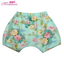 Mom's care Summer 100% Cotton Floral Childrens Shorts Clothes Wear Baby Girs Infant Toddler Knickers Breeches Trousers Pants(China)