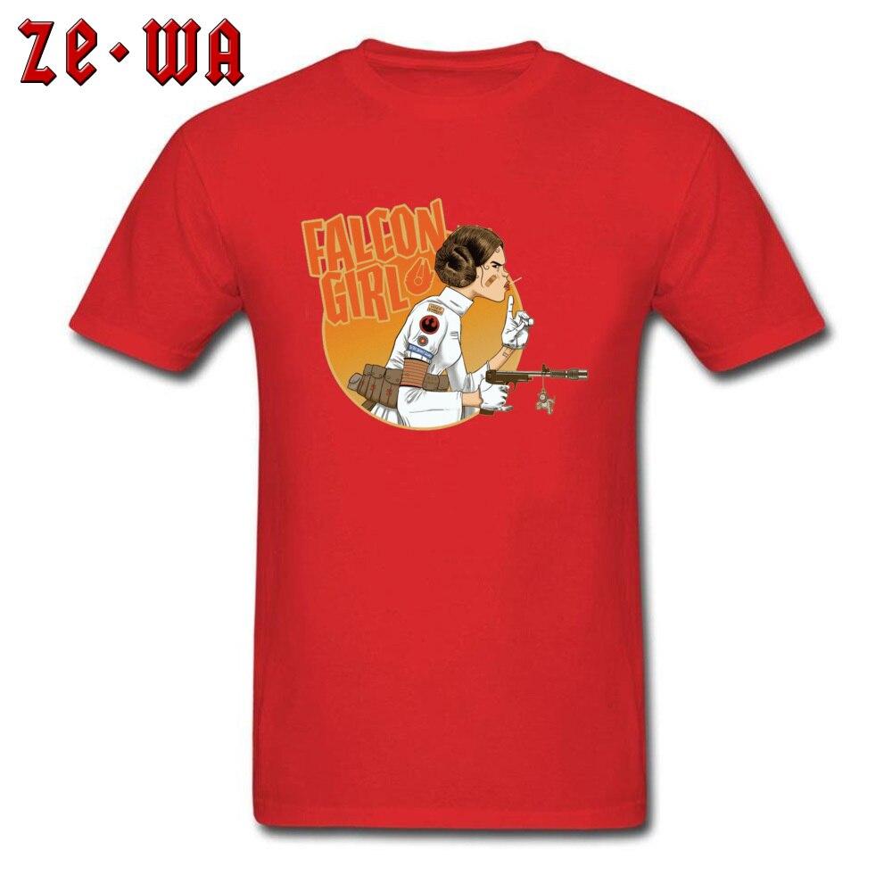 Falcon Girl Top T-shirts Hip hop Short Sleeve New Coming O-Neck 100% Cotton Tees Printing Tees for Men Summer Fall Falcon Girl red