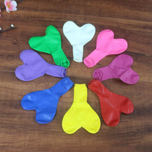 50pcs Romantic 12 Inch Love Heart Latex Wedding Helium Balloons Valentines Day Birthday Party Inflatable Balloons Party supplies
