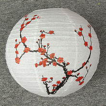 30 /35 /40cm Chinese Style Plum Blossom Paper Lantern Shade Wish lights Oriental Home Decor