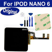 100% Tested for iPod Nano 6 6g 6th lcd display touch screen with digitizer Assembly Replacement Black Color Free 3M adhesive