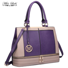 Buy 1 Get 1 at 20% Off Miss Lulu Women Leather Handbags Top-handle Bags Cross Body Bags Two Compartments Shoulder Bags LT6619