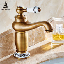 Bathroom Basin Faucet Antique bronze finish Brass Sink Faucet Single Handle Vessel Sink Water Tap Mixer Free shipping M-16F(China)