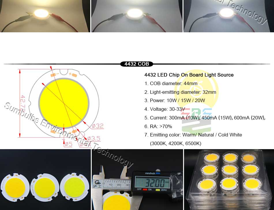 5W 10W 20W 30W 50W 200W Rounded COB LED Light Source Warm Natural Cold White Integrated Circular LED Chip On Board (5)