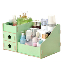 Practical Boutique Wooden 3 layers Drawer type Cosmetics storage box Home Bedroom Organizer Supplies
