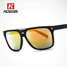 Print Indentation Sunglasses Men 2016 New Rectangle Sun Glasses Anti-ultraviolet Coating Sunglass With Box KDEAM CE