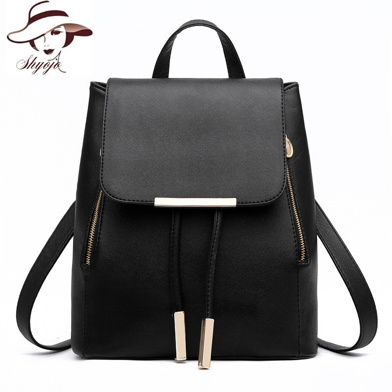 Fashion Leather Backpack Women Fashion School Bags For Teenagers Girl Laptop Travel Hand Backpack Leisure High Quality RucksacK(China (Mainland))