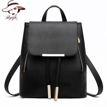 Fashion Leather Backpack Women Fashion School Bags For Teenagers Girl Laptop Travel Hand Backpack Leisure High Quality RucksacK(China)