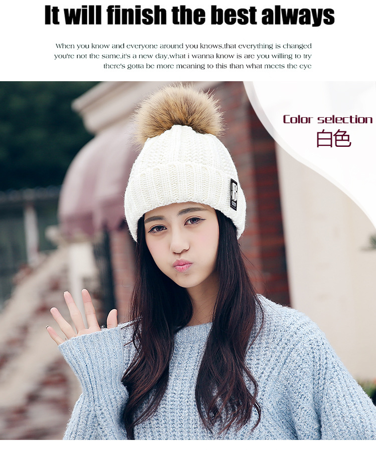 The new autumn and winter plus cashmere standard wool hat women hair bulb flange warm knit hat fashionОдежда и ак�е��уары<br><br><br>Aliexpress