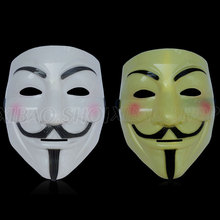 5pcs Party Masks  V for Vendetta Anonymous Guy Fawkes Mask Halloween Cosplay Free shipping Free Shipping