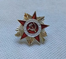 PIN badge Great Patriotic War 2nd class USSR Soviet Russian Military order medal military red star ww2 victory day silver plated