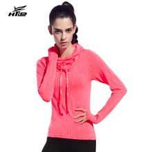 HTLD Thin Sport Hoodies Women Fitness Training Exercise Sweatshirts Long Sleeve Tennis Tee Shirts Slim Running Tops Harajuku 081
