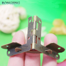 20pcs Furniture Cabinet Hinge Antique Jewelry Box Hinges  Packaging Accessories Surface Mounted Iron Hinges 31*36mm