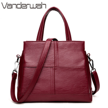 VANDERWAH Leather luxury handbags women bags designer casual large capacity big shoulder crossbody bags for women tote bag sac