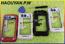 HAOYUAN.P.W New Original Middle Plate Housing Frame Case Cover+Button+Open Tool For Motorola Defy MB525 ME525 Fast Ship 4COLOR(China)