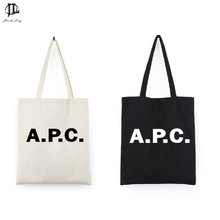 Fashion Personalized Women Girls Street Blank Tote Bag Tote English Letter Design Canvas Tote Shoulder Bag Handbag Tote Bags(China)