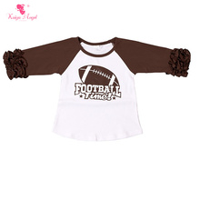 Icing Ruffle Raglan Shirts American Football Baby Girls Tees Girls Kids Icing Ruffle Raglan Tops Fall Wholesale Boutique Clothes