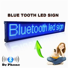 101CM Bluetooth Programmable Led Display Board Can Scrolling Message for Business and Store -Blue Message(China)