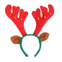 Christmas Cosplay Cute Hairbands Reindeer Antler Headband With Ear X'mas Celebration Accessories For Women Kids Party Headband