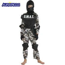 bf0edd67c Kids SWAT Costume Military Uniform Kids Swat Set Child Special Soldier  Cosplay Camouflage Army Gift Halloween Fancy Costume