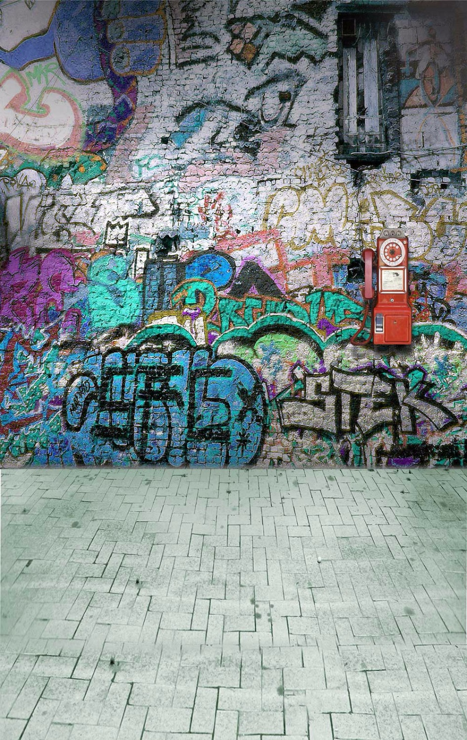 KATE Photo Backdrops Graffiti Brick Wall Background Abstract Texture Backdrops Children Photography Background for Studio<br>