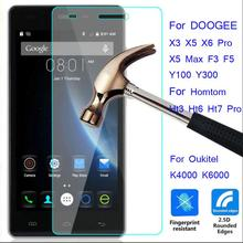 Buy 9H Tempered Glass Doogee X5 Max Pro X6 X3 Y100 F5 Homtom HT3 HT6 HT7 Pro HT17 Oukitel K4000 K6000 Pro K10000 Protective Film for $1.00 in AliExpress store