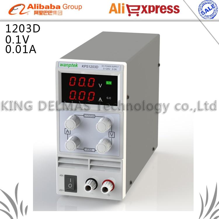 KPS-1203D Mini Adjustable Digital DC power supply ,0~120V 0~3A ,110V-220V Switching Power supply 0.1V/0.01A FOr US/EU/AU Plug<br><br>Aliexpress