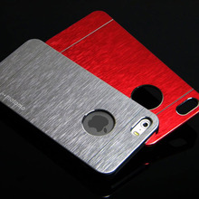 for iphone 4S case motomo metal aluminium fashion Brushed cover skin with hole for Apple 1pc