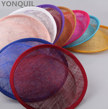 18 Colors available 20CM sinamay fascinator base hats line hats base for women church millinery hats craft accessories 5pcs/lot(China)