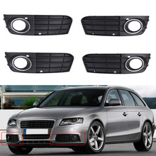 Bumper Fog Light Grill Grille for Audi A4 B8 2008-2012
