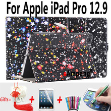 For Apple iPad Pro 12.9 Case Leather Smart Dream Star Shockproof Tablet Cases For Apple iPad Pro Cover For iPad 12.9 2015