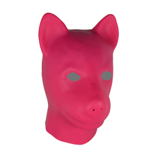 Buy Latex Pink Black Red Gummi Fetish Dog Hood Full Head Hood Animal Mask unisex fetish latex dog BDSM slave hood